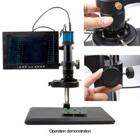 14MP HDMI HD interface LED Ring Light Video Digital Microscope Camera for Electronic Computer Repair tools