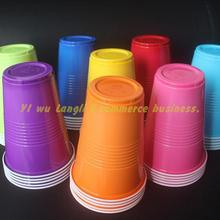 10pcs/lot 450ml party Disposable Cups pink Color Tasting Cup Coffee Hot drink Pp Cup for Milk tea Fruit juice party supplies 10pcs lot 450ml party disposable cups pink color tasting cup coffee hot drink pp cup for milk tea fruit juice party supplies