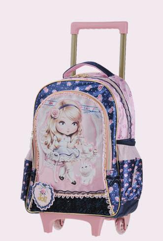 Girls Children's Backpack Rolling Luggage In Trolley On School Bags 13Off Travel 49 Bag Wheels For kids Us23 WrCBoexd