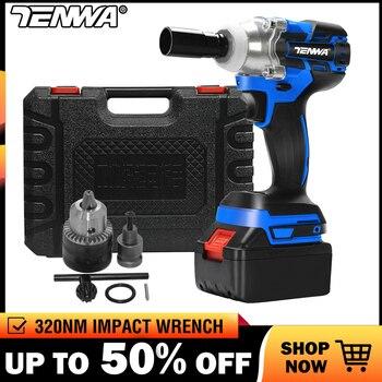 TENWA Бесщеточный беспроводный Электрический Ударный гаечный ключ 21V 4000mAh Литиевая батарея Электроинструменты