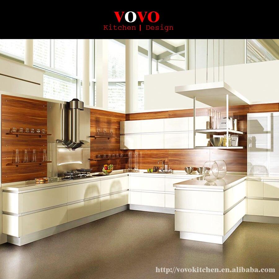 Gabinete de cocina lacado blanco fábrica