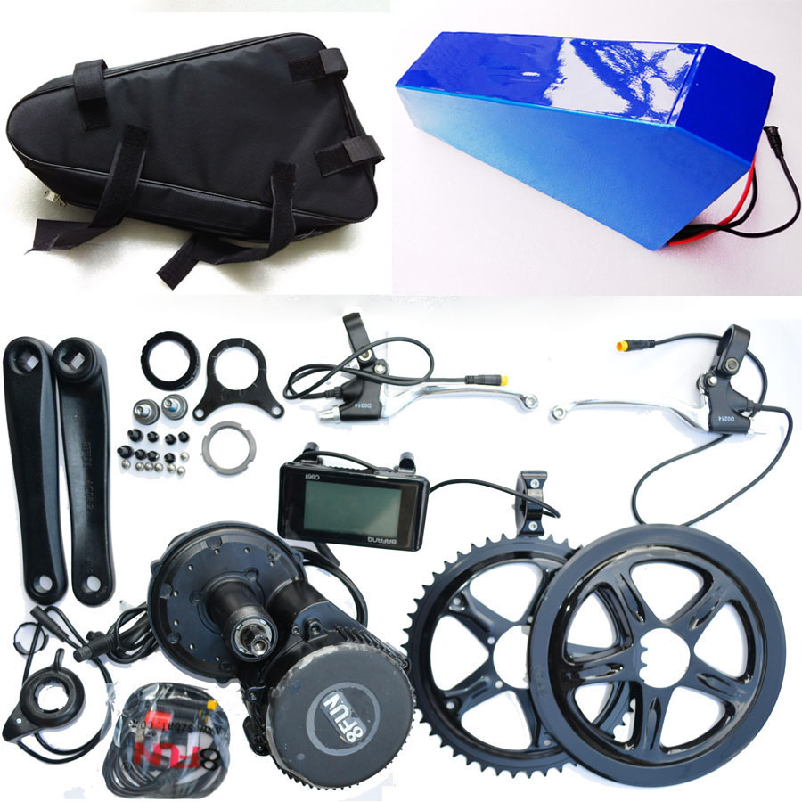 Bafang BBS02 48V 750W Electric bicycle Motor 8fun mid drive electric bike conversion kit + 48V 24Ah For Samsung battery with Bag
