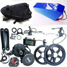 Bafang BBS02 48V 750W Electrical bicycle Motor 8fun mid drive electrical bike conversion package + 48V 24Ah For Samsung battery with Bag