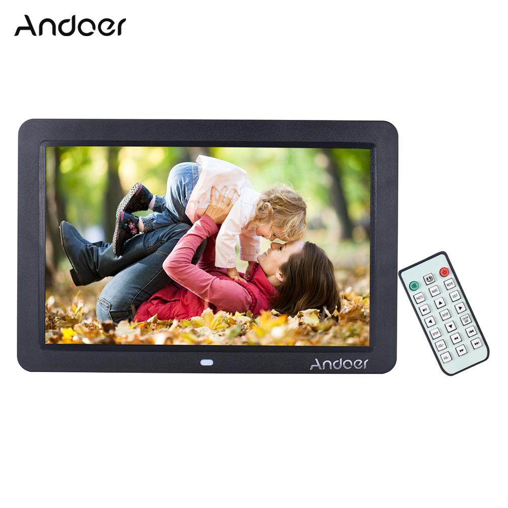 """Prix pour Andoer 12 """"large Écran HD LED Numérique Cadre Photo 1280*800 Électronique Cadre Photo MP3 MP4 Lecteur Horloge avec Télécommande"""