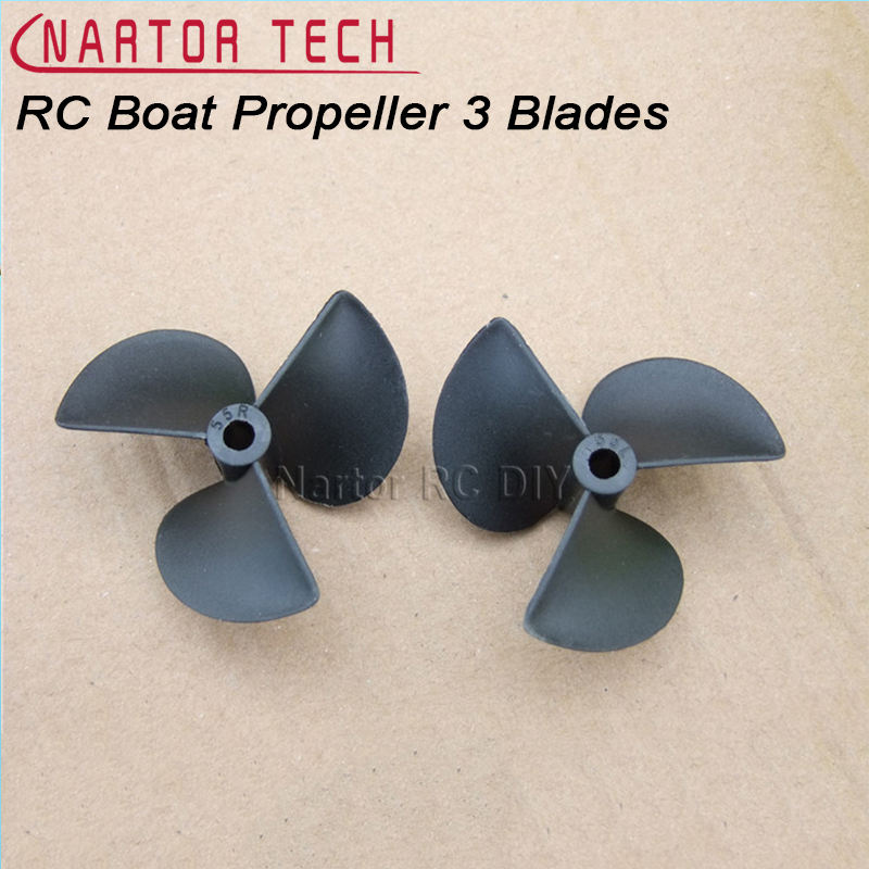 RC Boat Propeller 3 Blades Nylon Propellers For 3mm/4mm/4.8mm Shaft RC Boat 3 Blade Plastic Paddles
