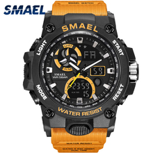 SMAEL Men Military 8011 Watch Male Relogios Masculino 50M Waterproof Wristwatch Chronograph Auto Date Watches Sport Quartz Clock цена и фото