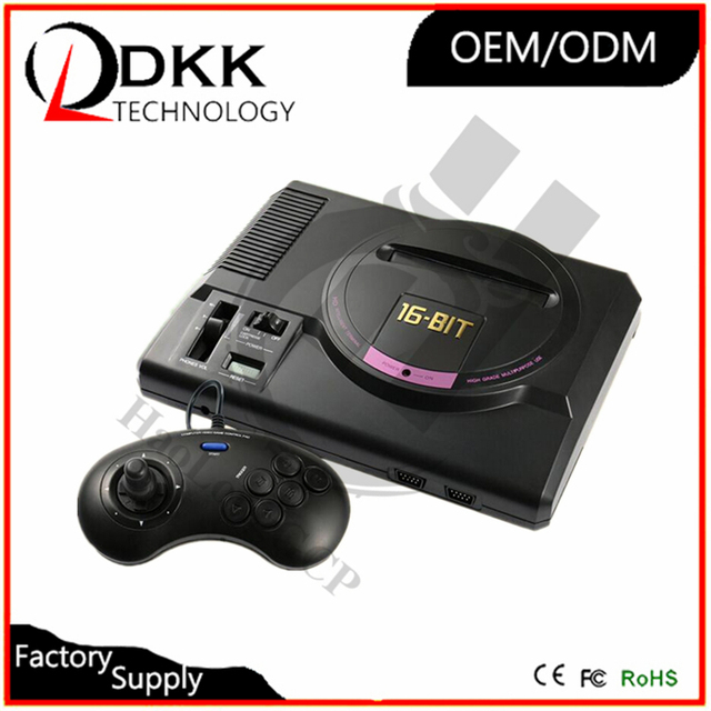 For Mega Drive video game console for sega 16bit video game HDMI TV out with 1000 free games 8GB md cartridge wireless gamepad