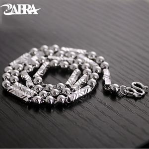 Image 1 - ZABRA 925 Silver 4mm 46/51cm Vintage Long Round Sexangle Mens Chain Necklace Steampunk Retro Fashion Men Sterling Jewelry