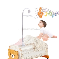 Bébé Hochets Literie Mobile Berceau Jouets Bras Soutien Holder Vent-Up Music Box # HC6U # Drop Shipping