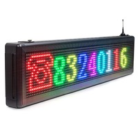 43x 8 Programmable 7 colors WIfi LED Scrolling Message +temperature Display Sign Outdoor Waterproof P8 led panel outdoor Board