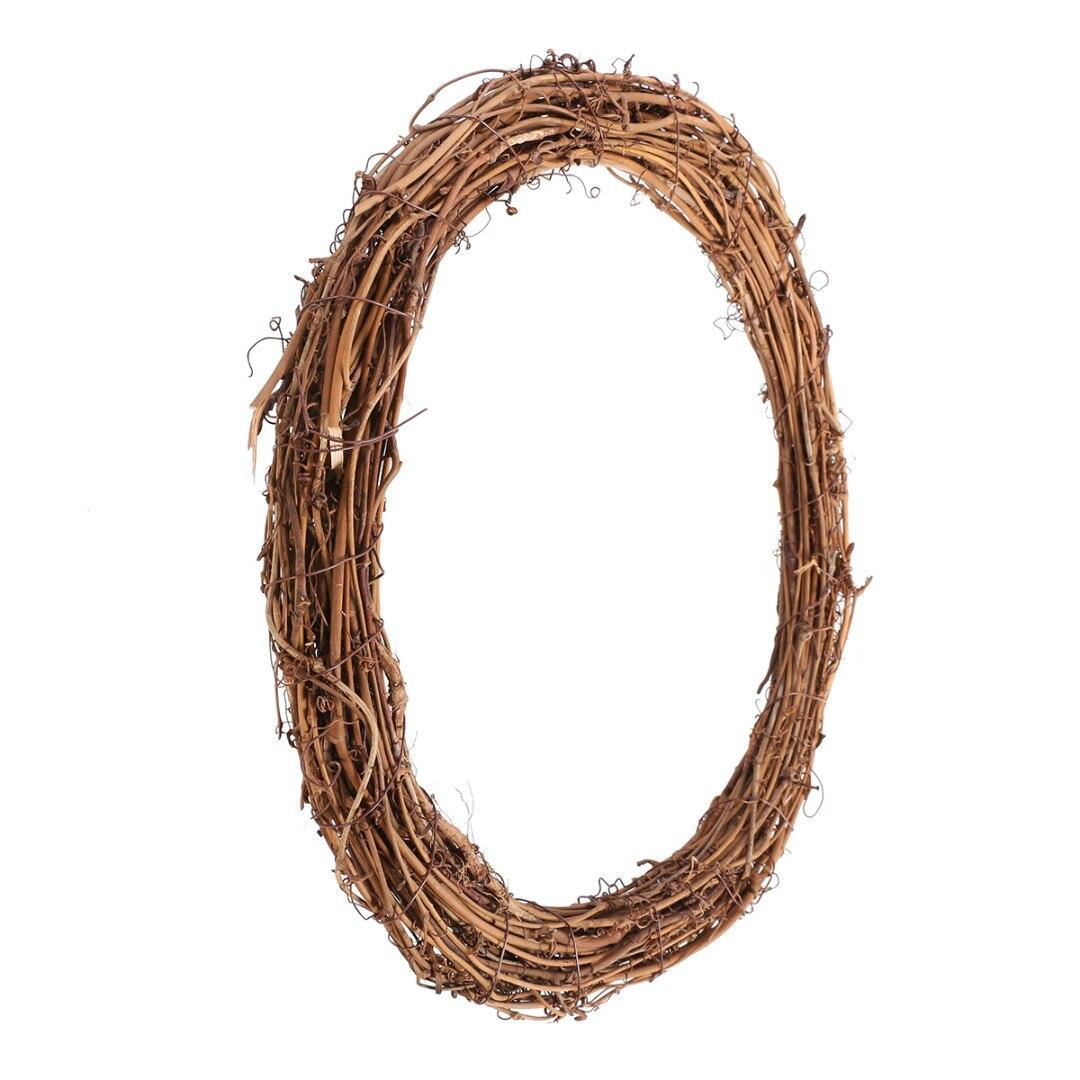 Diy Wedding Wreaths: Natural Dried Wreath DIY Rattan Wreaths Christmas Door