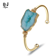 Bojiu Brands Women Jewelry Bangles Brecelets  Trendy New Stamp Copper Adjustable Cuff for Woman Man BR029