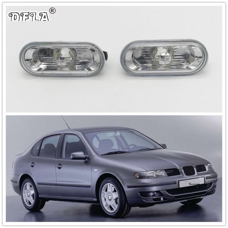 2pcs For SEAT Toledo 1999 2000 2001 2002 2003 2004 Car-Styling Side Marker Turn Signal Light Lamp Repeater 2pcs for vw sharan 2001 2002 2003 2004 2005 car styling side marker turn signal light lamp repeater