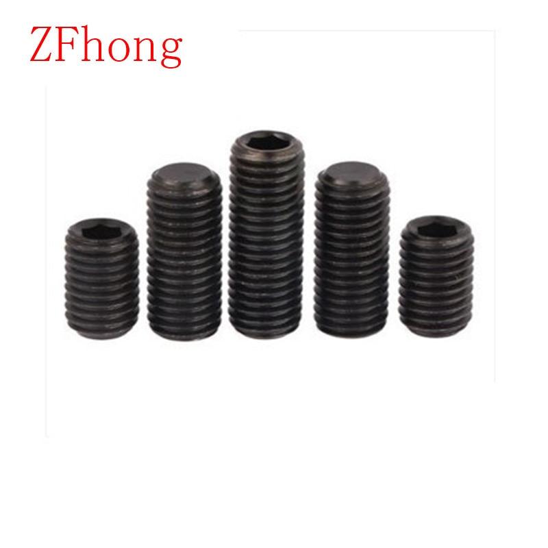 DIN913 Grade12.9 M4*4/5/6/8/10/12/16  flat end hex socket set screw grube screw 20pcs m3 6 m3 x 6mm aluminum anodized hex socket button head screw