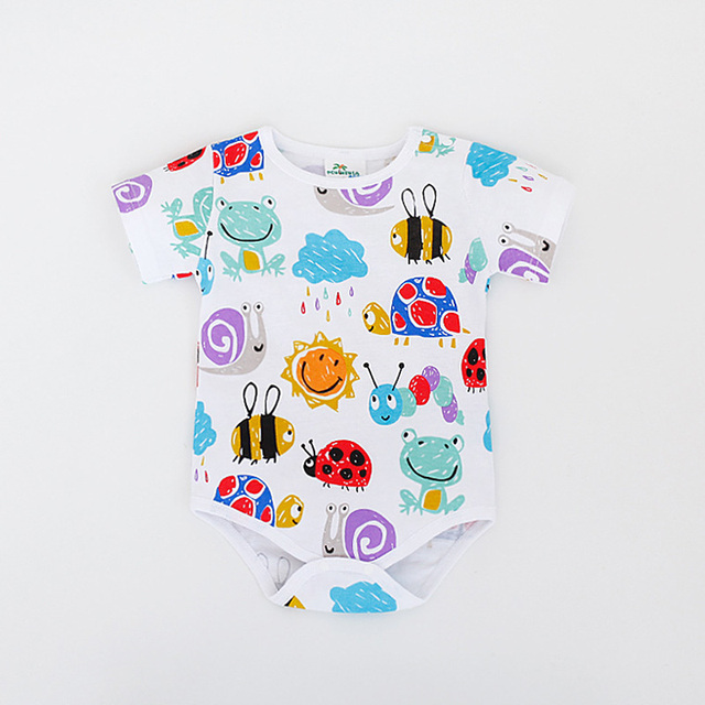 Baby Body Limited Real Jumpsuit 2016 Summer Short Sleeve Triangle Romper Cute Baby Dinosaur For Baby Coveralls Clothes Climbing