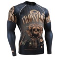 Man's Long Sleeves T-shirts Full Prints Compression Shirts Tight Rash Guard Fitness MMA Body Building Shirts Thermal Under Top