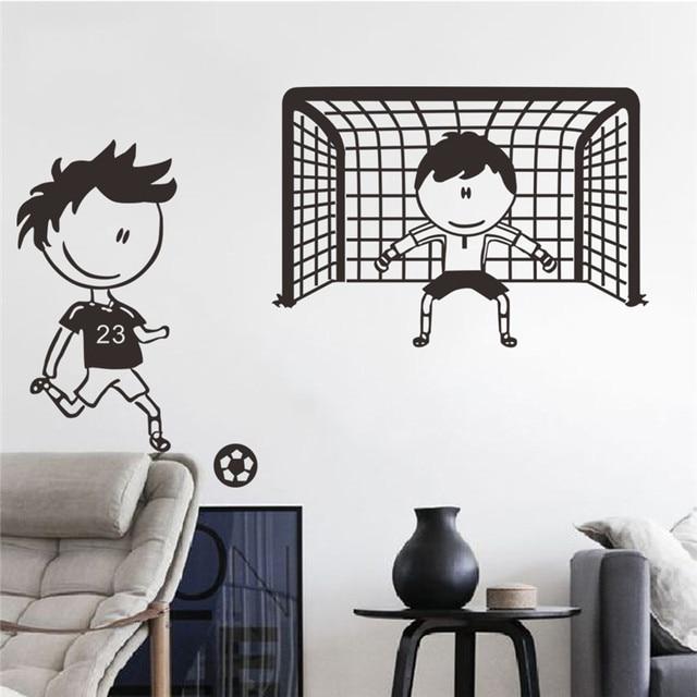Us 3 26 16 Off Spielen Fussball Fussball Wandaufkleber Fur Kinderzimmer Jungen Schlafzimmer Decor Wall Art Kinder Wandaufkleber Kinderzimmer