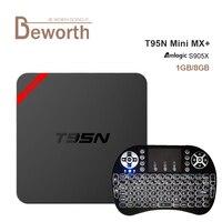 T95N Mini MX + Amlogic S905X Android 6.0 Akıllı TV Kutusu Quad Core 2.4 GHz WIFI 1G 8G UHD 4 K H.265 MX Artı Set Üstü Kutuları Media Player
