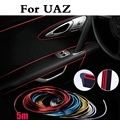 5metres Car style interior Decorative thread sticker Dashboard Strip For UAZ 31512 3153 3159 3162 Simbir 469 Hunter Patriot