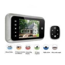 Hot 3.5 LCD T115 Schermo a Colori Campanello Visore Digitale del Portello di Peephole Camera Viewer Eye Video record 120 Gradi di visione notturna