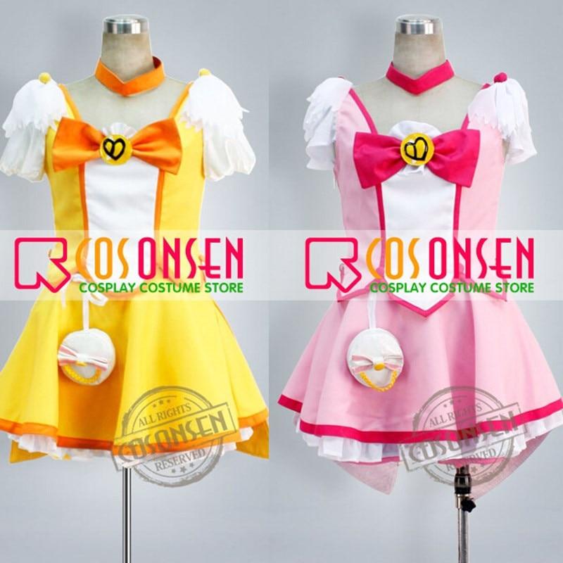 COSPLAYONSEN Smile PreCure Cure Peace Kise Yayoi Cure Happy Hoshizora Miyuki Cosplay Costume All Size Custom Made