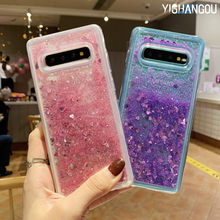 Liquid QuickSand Hearts Case For Samsung Galaxy S10 Plus S10e S8 S9 S6 S7 Edge Note 9 8 5 4 3 A6 A7 A8 A9 2018 J8 J4 J6 Prime(China)