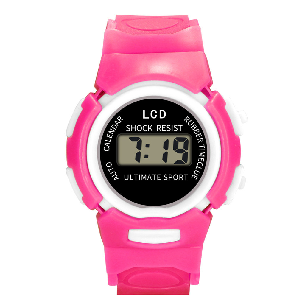 Digital Watch Kids Girl 2019 Children Girls Analog Digital Sport LED Kids Alarm Date Casual Watch Select Gift For Kid 10.31