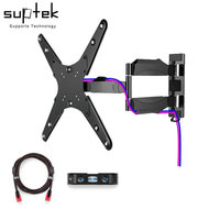 Suptek TV Wall Mount Bracket With Full Motion Swivel Articulating For Most 23 55 LED LCD