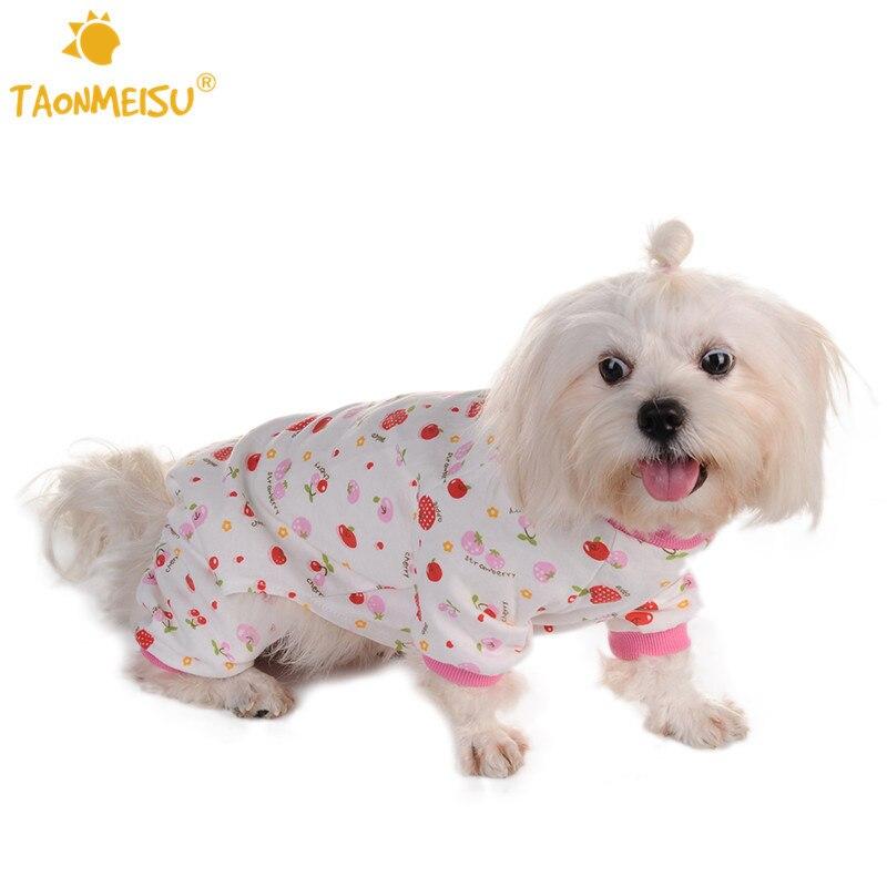 ΞEncantador más nuevo cereza impreso mascotas pijamas suave acogedor ...