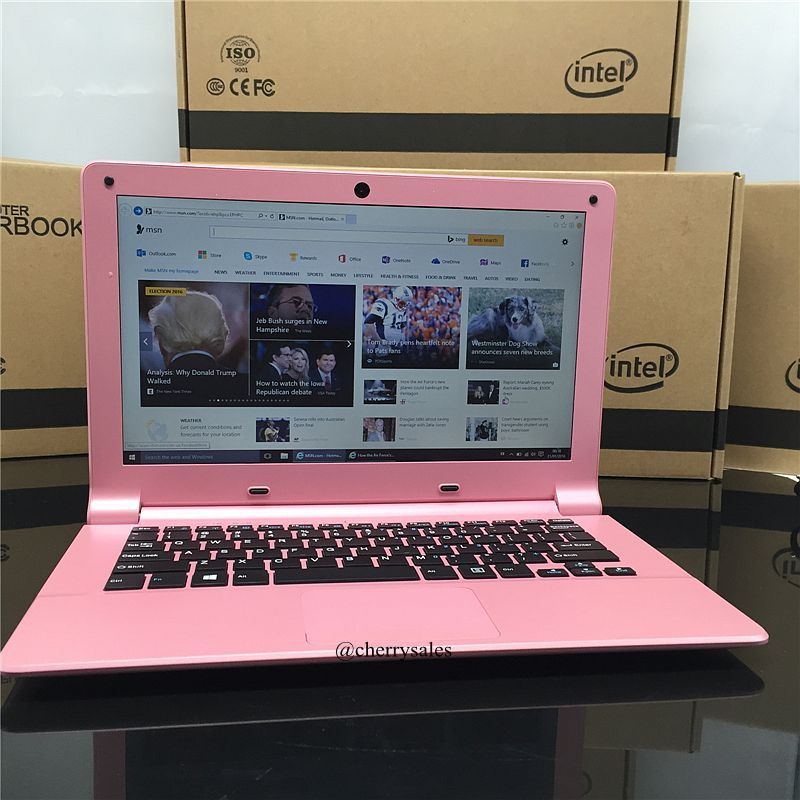 Free Shipping 11.6inch laptop 1366*768 2GB 32GB ROM Z3735F quad core computer windows10 USB2.0 TF card camera netbook 1
