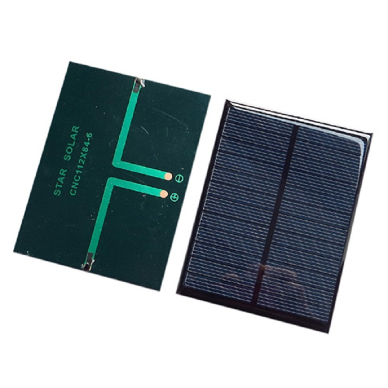 Monocrystalline Solar Panel Module For Battery Cell Phone Charger DIY Model 112X84mm 6V 1.1W black