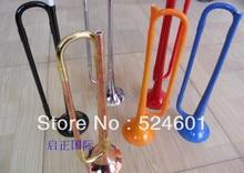 Kinder Student Trompeta Kunststoff Gummi Trompete Musikinstrument Schüler Kinder Anfänger Military Trumpete