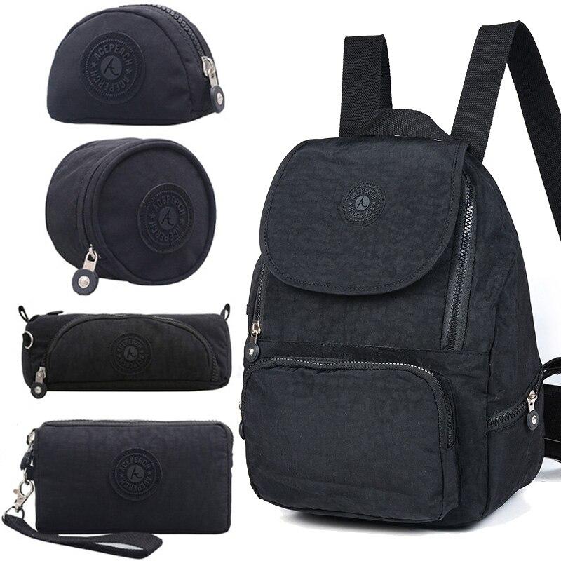 ACEPERCH femmes Original Escolar sac à dos fille étanche en Nylon sac à dos dame sacs à dos sac de voyage décontracté Mochila Infantil Menina - 6