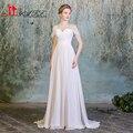 In Stock Real Image Summer Bohemian Cheap Wedding Dresses Appliques Chiffon Beach Bridal Gowns 2016 vestido de noiva praia
