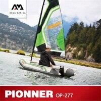 AQUA Марина 2019 новый PIONEER надувные для парусного спорта резиновая надувная лодка с парусом ПВХ Каноэ Спорт паруса каяк парусник