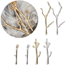 Women Metal Branch Leaves Hair Pins Clip Head Makeup Accessories bands for women 1 pc Fashion Girls Clips