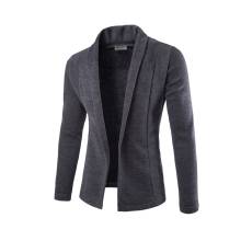 Hot new males's 2016 korean style development of informal Slim strong shade easy V-neck long-sleeved knit cardigan jacket