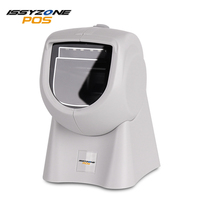 2D Desktop Hands Free Barcode Scanner wireless USB omnidirectional barcode scanner with Red CCD(Aiming) /white LED (lighting)