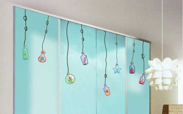 Large Kids Removable Windows Stickers Cute Wall Glass Stickers - Vinyl stickers for glass