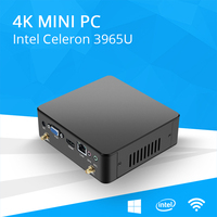 New Mini PC Intel Celeron Windows 10 4K UHD Minipc Linux 6 USB HDMI VGA 300M WiFi Home and Office use Micro Computer