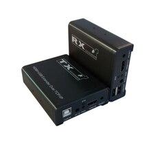 100 M HDMI extensor simple a través de cat5e/6, con control infrarrojo + cable USB único para la transmisión de larga distancia de alta definición