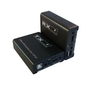 Image 1 - 100 M HDMI genişletici tek üzerinden cat5e/6, kızılötesi kontrol + USB tek kablo uzun mesafe iletim için yüksek çözünürlüklü