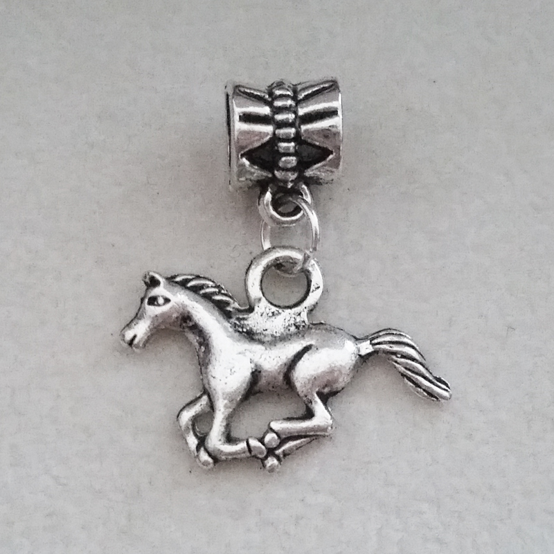1PC Horse Pendant Charms Silver Dangle Bead For European Pandora Charm DIY Pulseras Womens bracelets