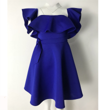 Party Pleated Dress with Waist Belt