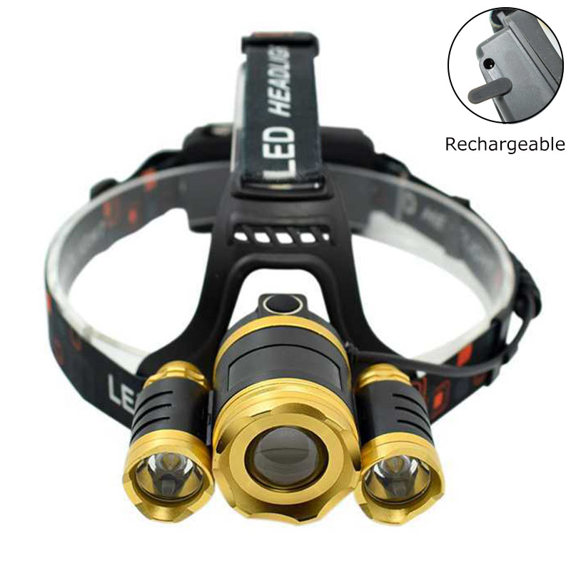 3 XM L T6 LED Headlamp Frontal Flashlight 10000 Lumens Headlight Zoom 4 Modes Head Lamp Torch Rechargeable Bike Light by 18650 r3 2led super bright mini headlamp headlight flashlight torch lamp 4 models
