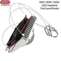 100W 50W High Power LED Chip Bead Bulb Lamp Radiator Heatsink With Dc 12v Cooling Fan