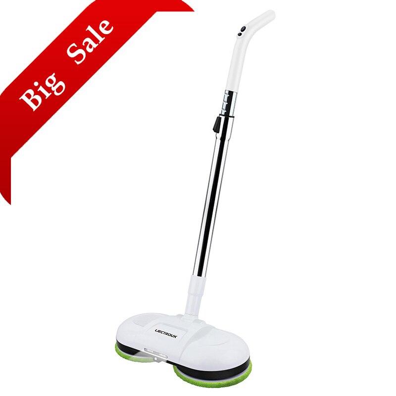 (FBA) LIECTROUX F528A Wireless Scopa Elettrica con Ceretta, Bagnato Per La Pulizia A Secco, Spay Acqua, mopping Robot Non-Aspirapolvere, HA CONDOTTO LA Luce