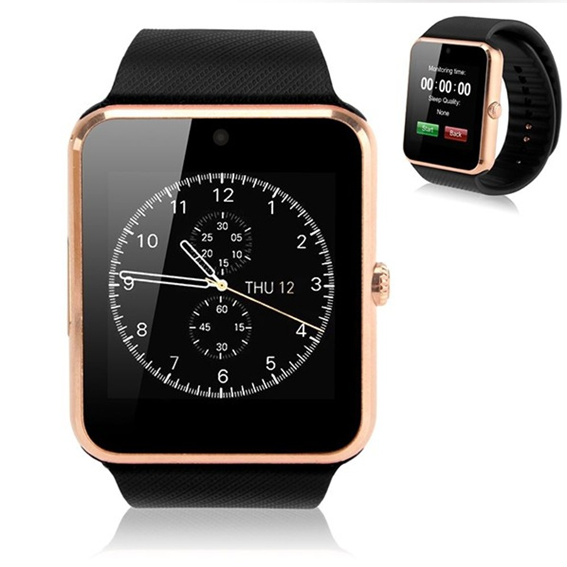 2016 New Wearable Devices reloj inteligente GT08 Smart Watch Android Support SIM Card font b Smartwatch