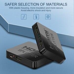 Image 5 - HDCP 4K HDMI Splitter Full HD 1080p Video Switch HDMI Switcher 1X2 Split 1 in 2 Out Amplificatore doppio Display Per HDTV DVD PS3 Xbox