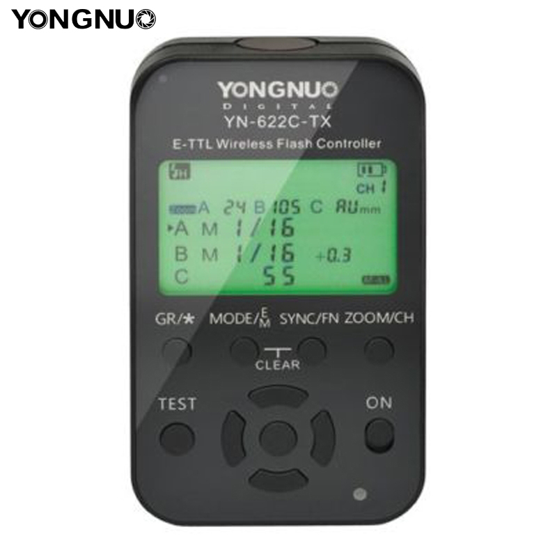 Yongnuo ttl yn-622c-tx lcd controlador transmisor inalámbrico de ...